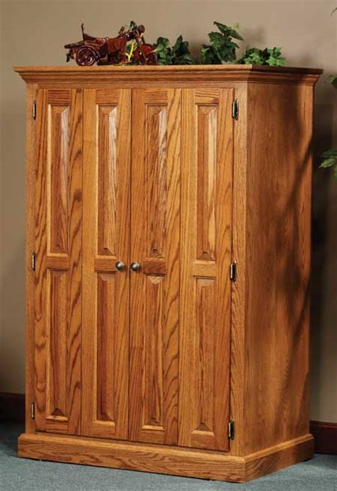 Solid Oak Computer Armoire 33 Heirwood Computer Armoire In Oak Solid Wood Amish Furniture
