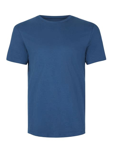 t shirt dark blue slim fit t shirt topman