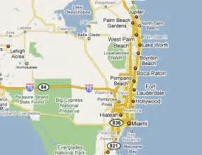 south florida map showing cities map of florida with all cities and towns