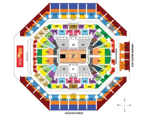 seating charts att center