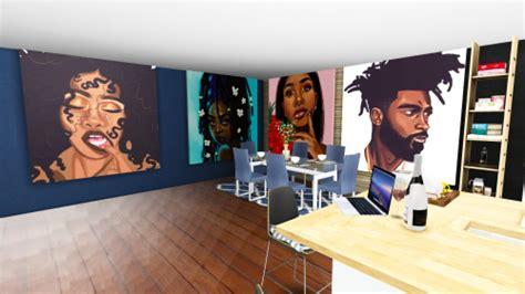Tupac Wall Mural urban sims 4 tumblr