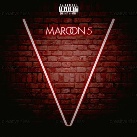 maroon v album maroon 5 album cover by derel12