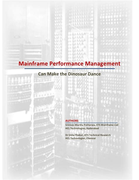 performance management research papers hclt research paper mainframe performance management