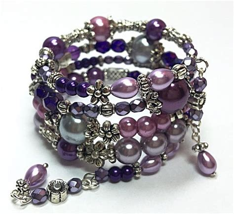 Handmade Memory Wire Bracelets - 1000 ideas about handmade beaded bracelets on