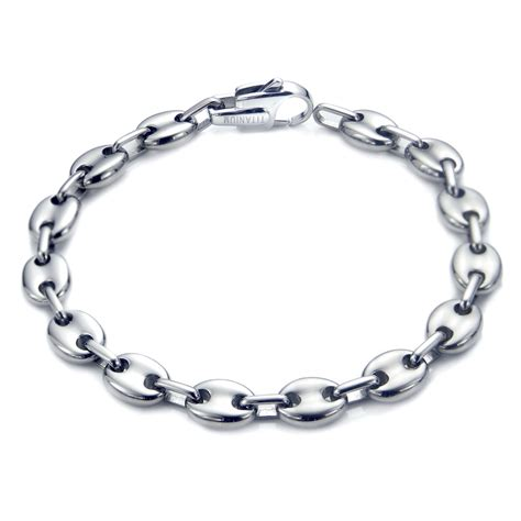 Bracelet Titanium 10 Titanium S 10mm Marina Link Bracelet