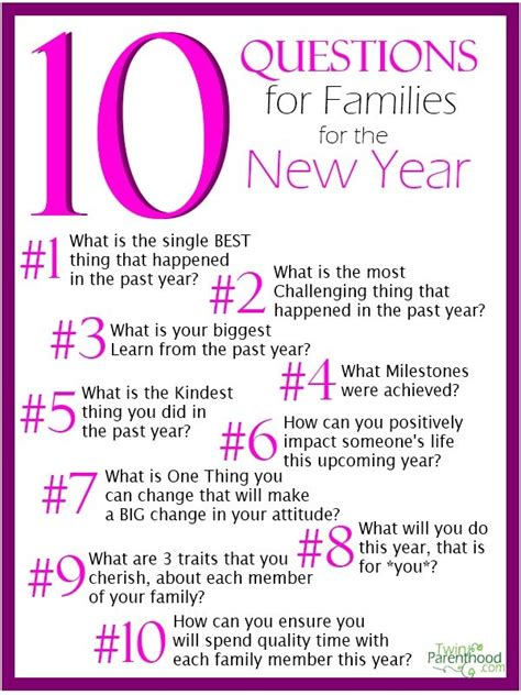 10 questions about new year 17 best images about new years family ideas on