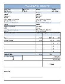 commercial invoice template excel commercial invoice template in excel