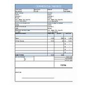 Commercial Invoice Excel Template Free