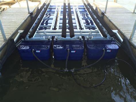 tritoon boat lift pontoon tritoon boat lifts boat floater of oklahoma