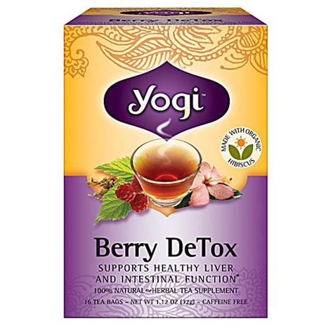 Best Detox Tea With Cafeen by Yogi Detox Herbal Tea Caffeine Free Berry 16 Tea Bags