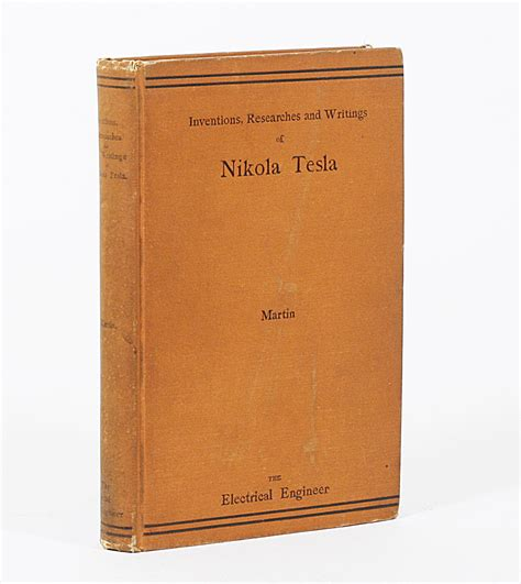 Book About Nikola Tesla Inventions Researches And Writings Of Nikola Tesla