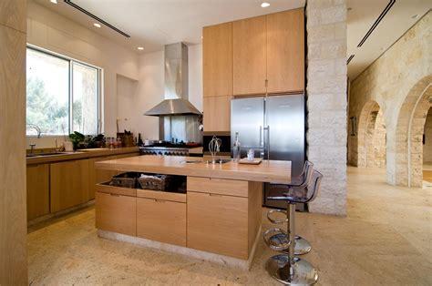 Breakfast Bar, Kitchen Island, Contemporary Stone House in