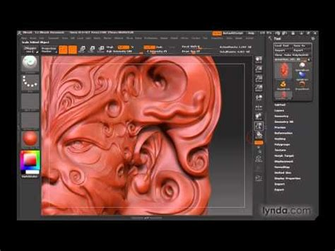 zbrush tutorial lynda zbrush discovering sculpting brushes lynda com 3d