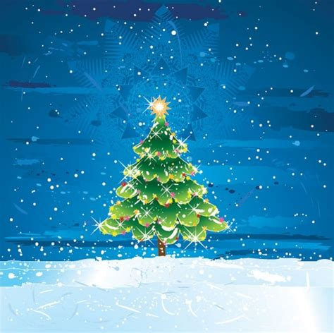 snow christmas tree vector free vector in encapsulated