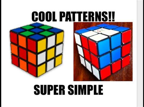 simple pattern of rubik s cube rubik s cube patterns super easy youtube