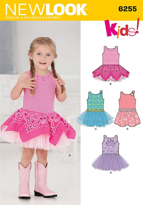 pattern review best patterns 2013 new look 6255 toddlers dress with knit bodice
