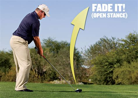 open stance golf swing power draws power fades golf tips magazine