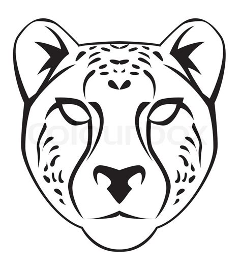 cheetah mask template free coloring pages of leopard mask
