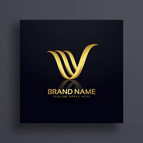 letter  creative premium golden logo design