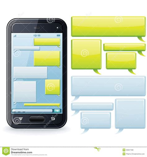 phone chatting template vector image stock photo image