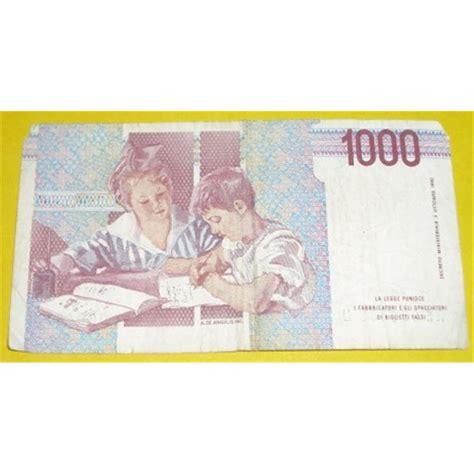 d italia lire mille 1000 lire mille bana d italia italy note
