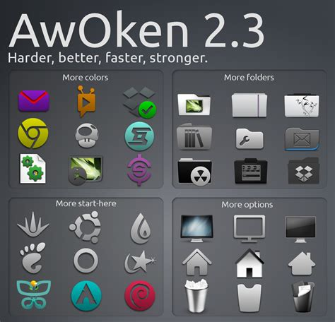 gnome themes icons awoken 2 3 brings new themes better support for unity