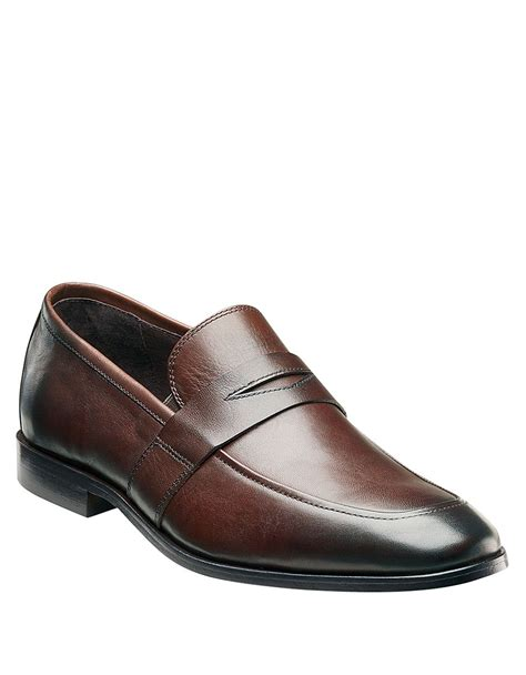 pennie loafers florsheim jet leather loafers in brown for lyst