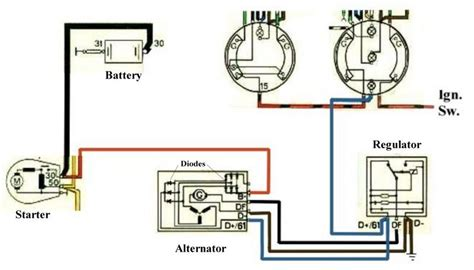 dual alternator wiring schematic alternator wiring