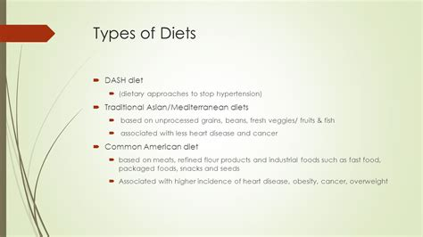 6 Types Of Diet Which Ones Right For You choosing a nutritious diet ppt