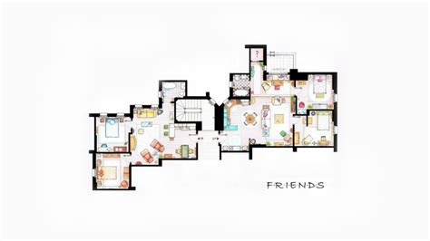 friends apartment design interior apartments friends tv series floor plans entertainment tv series hd desktop