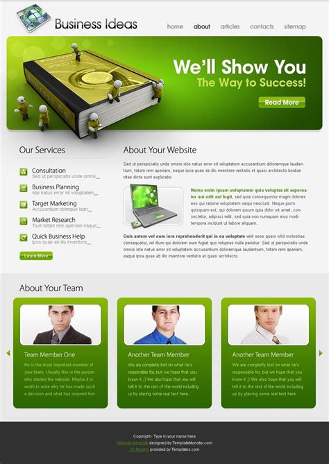 idea website free website template business ideas