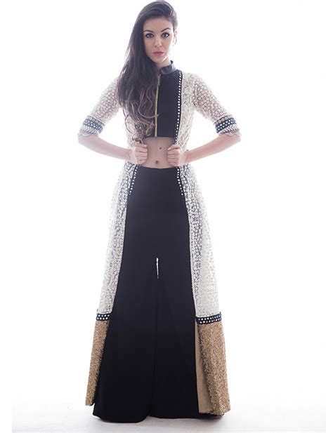Buy Cape with Crop Top and Palazzo Pants online   Dresses
