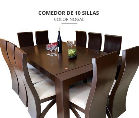 precios de comedores modernos comedor 10 sillas color nogal comedores moderno 27 300