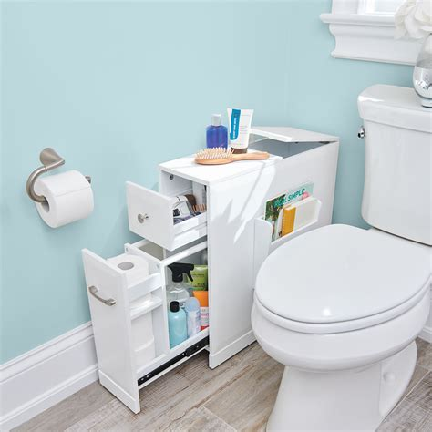 Space Bathroom - the tight space bathroom organizer hammacher schlemmer