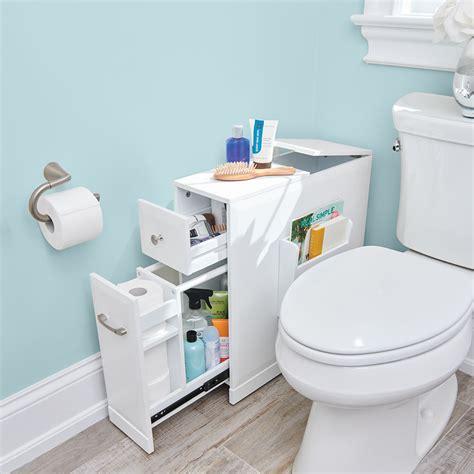 the tight space bathroom organizer hammacher schlemmer