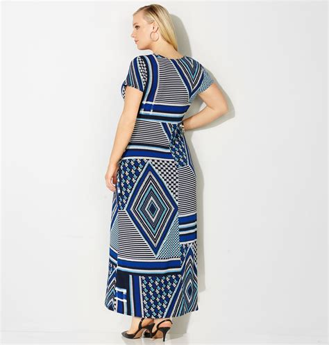 Patchwork Maxi Dress - patchwork maxi wrap dress plus size maxi dress avenue