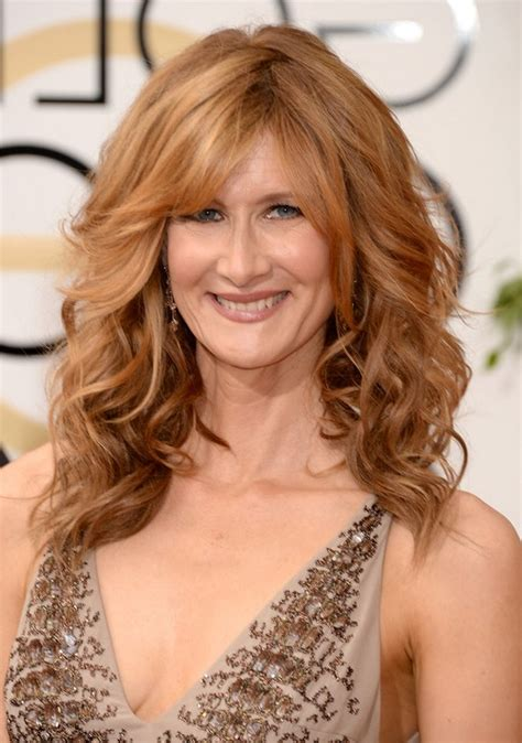 medium hairstyles for women over 40 with bangs laura dern medium wavy cut with bangs for women over 40