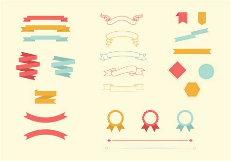 vector banner colored ribbon design free vector in vector ribbon banner border pack objects on creative