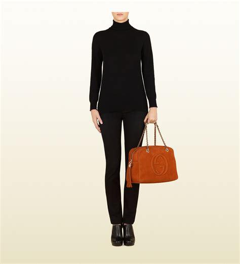 Gucci Broche Gg Sling Bag Ac865 gucci soho nubuck leather chain shoulder bag in orange lyst