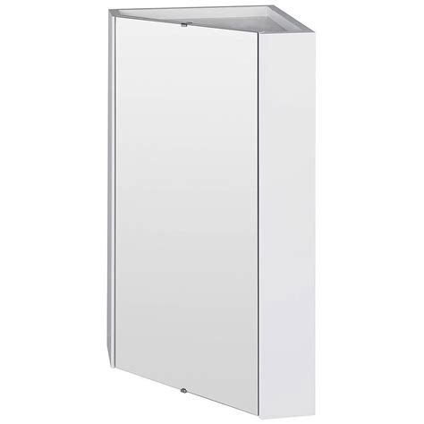 bathroom mirror cupboard lauren mayford high gloss white 459mm corner mirror cabinet