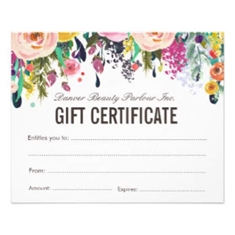 makeup gift certificate template salon template flyers programs zazzle