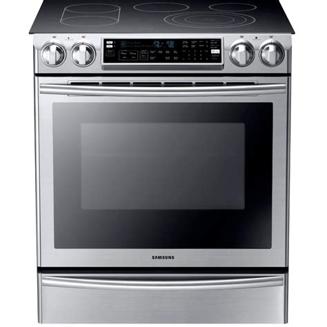 samsung flex duo 5 8 cu ft slide in oven electric range with self cleaning convection