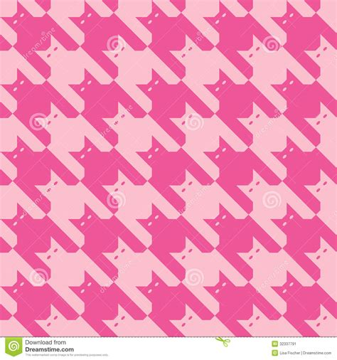 houndstooth pattern ai catstooth pattern in pink stock vector illustration of