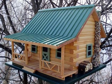 40 Beautiful Bird House Designs You Will Fall In Love With Cabin Birdhouse Plans