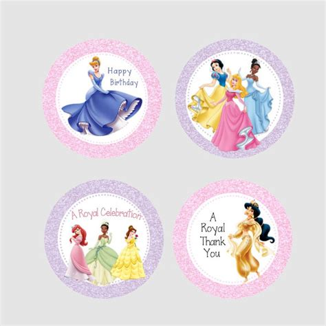 printable disney princess party decorations printable disney princess party tags instant download