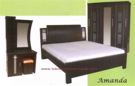 Ranjang Rak Sepatu Nakas Bedroom Set Mini kamar set amanda toko kasur bed murah simpati