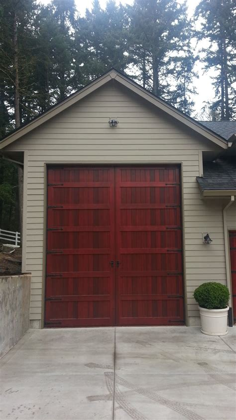 Bi Fold Carriage Style Garage Door And Rv Port Portland Garage Doors Portland