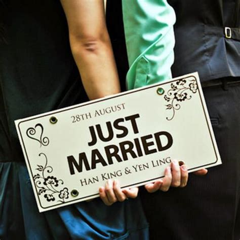 Wedding Car License by Custom Made Just Married Wedding Car Decoration Festive