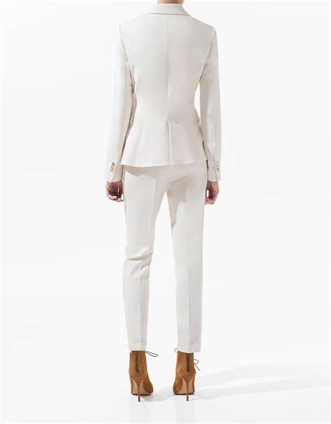 Blazer Zara Basic Zara Basic Blazer In White Lyst