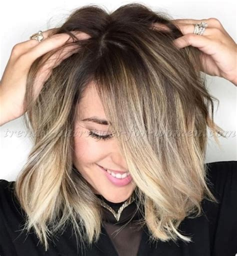 straight sholder length ombre hair medium length hairstyles for straight hair ombre bob